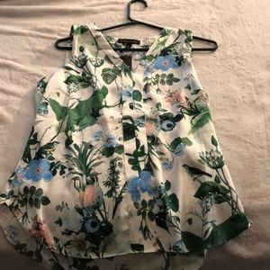 Woman's Banana Republic Floral Blouse Vest